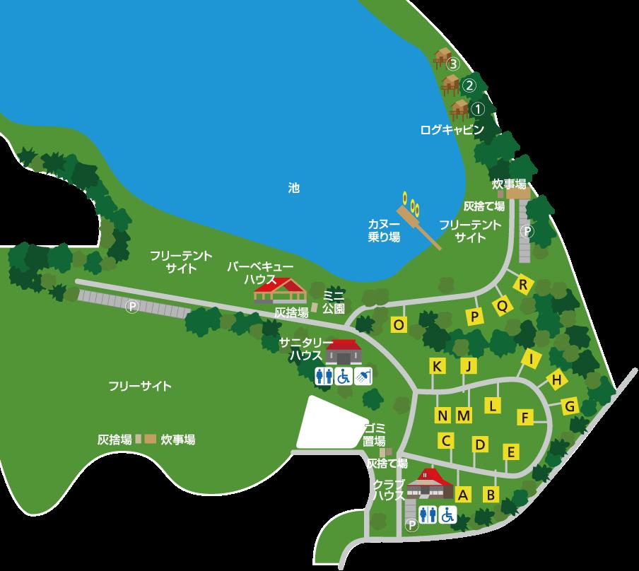 大池キャンプ場マップ